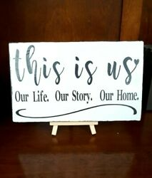 This Is Us Our Life Our Story Our Home Rustic Wood Sign Farmhouse wEasel