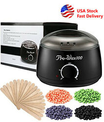 Wax Warmer Heater Pot Machine Salon Spa Hair Removal 300g Waxing Beans 10 Sticks