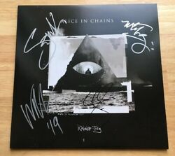 ALICE IN CHAINS - BAND SIGNED RAINIER FOG VINYL LP RECORD! ALL 4! WJSA CANTRELL