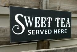 farmhouse wood sign SWEET TEA wooden rustic country kitchen 5.5X12 shelf sitter $17.99