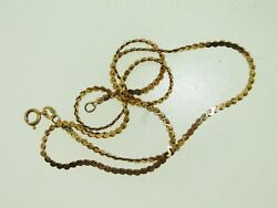 BEAUTIFUL 14KT YELLOW GOLD 16 12 INCH CHAIN NECKLACE