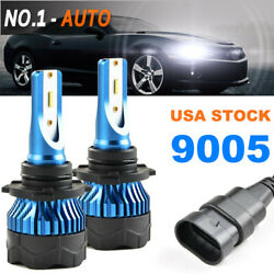 2x 9005 HB3 LED Headlight Conversion Kit 72W 8000LM HI-LO Beam Bulbs White 6000K