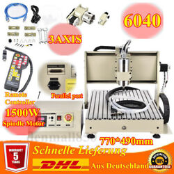 3 Axis 1.5KW CNC 6040 Router Engraver Engraving Drilling Machine +Remote Control