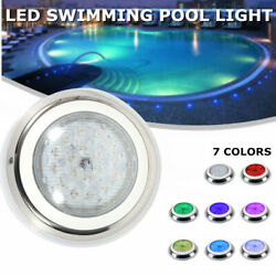 54W Swimming Pool Light Color-change LED RGB Stainless Steel IP68+Controller USA $93.00