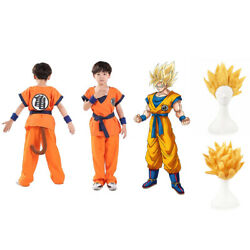 Kids Boys Dragon Ball Z Super Saiyan Goku Son Gokou Costume Cosplay Halloween