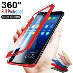 For iPhone 6 78 Plus X XR XS Max 360°Slim Shockproof Case + Screen Protector