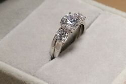 2ct Round Cut Solitaire Diamond Engagement Ring 14kt White Gold Finish