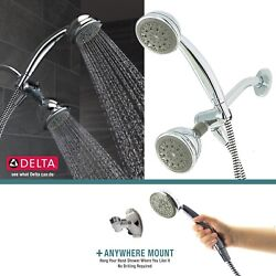 Delta Faucet 2 in 1 Dual Shower Head Handheld Tub Combo 5 Spray Bath Chrome