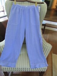 RARE..OUT OF PRODUCTION..NWT! FRESH PRODUCE 100% COTTON FRENCH TERRY CAPRI (M)