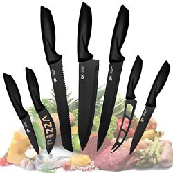 Professional Stainless Steel Kitchen Knife Set-7 Piece Cutlery Pizza knives Set  $18.70