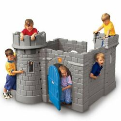 Jungle Gym Castle Playhouse Kids Outdoor Medieval Slide Gate Rollplay Fort Tower