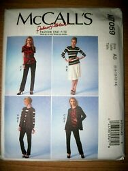 NEW McCALLS SEWING PATTERN M7059 MISSES JACKET SKIRT PANTS TOP & VEST Sz 6-22