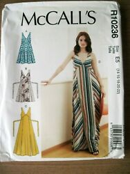 NEW McCALLS SEWING PATTERN R10236  M7945 MISSES DRESS Sz. 6-14 or 14-22