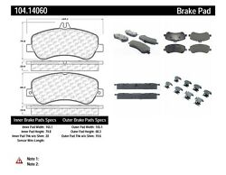 Centric 104.14060 Disc Brake Pad-Posi-Quiet Metallic with Shims Front