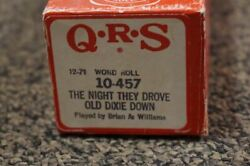 Used Vintage Piano Roll The Night They Drove Old Dixie Down