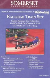 Wooden TRAIN CARS and TRACK Woodworking Plans Pattern Christmas Toy NEW