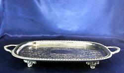 Silverplated Buffet Tray Vintage Leonard Butler's Serving Tray Footed