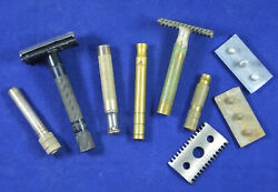 Vintage parts of Safety Razors LOT Original items SET $29.00
