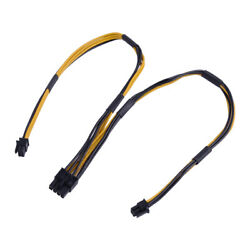 18AWG Dual Mini 6 Pin to 8 Pin Male PCI E Power Cable Fit for Mac Pro Video Card $7.59