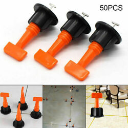 Flat Ceramic Floor Wall Construction Tools 50xReusable  Tile Leveling System Kit