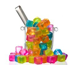 NEW Reusable Plastic Ice cubes Pack of 18 Colors May Vary BPA Free $5.99