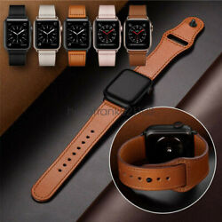 40 44mm Genuine Leather Apple Watch Band Strap for iWatch Series 5 4 3 2 38 42mm $12.18