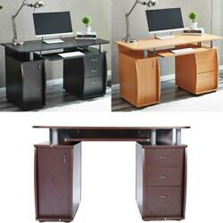 Corner Writing Table Computer Desk Home Office Student Study Workstation Work $193.99
