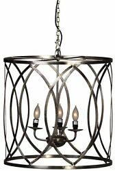 Dovetail Fulton Chandelier Steel Nickel Finish 21x21x21 $225.00