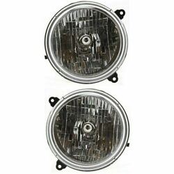 FOR JEEP LIBERTY 2002 2003 2004 HEADLIGHTS RIGHT & LEFT PAIR $52.77