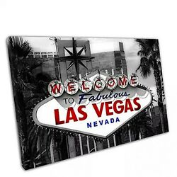 Welcome to fabulous las Vegas road sign Nevada USA framed bedroom Canvas Print i GBP 35.35