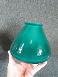 VINTAGE CASED GREEN DESK or FLOOR LAMP GLASS SHADE 3.25quot; FITTER $45.00