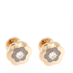 Gold Earrings Pink and Opal Pink with Diamond - High Jewelry Made To