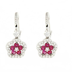 Hanging White Gold with Diamonds and Rubies - High Jewelry Made to Man