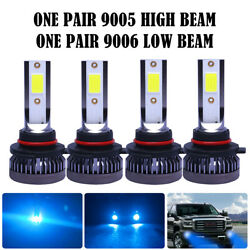 9005+9006 LED Combo Mini Headlights Bulbs Kit High Low Beam 8000K Ice Blue 110W