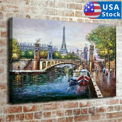 Nordic Paris Eiffel Tower Home Decor HD Canvas Picture Wall Art Painting 30*45cm