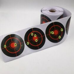 250pcsRoll 3inch Self-adhesive Shooting Splatter Target Reactive Target Sticker