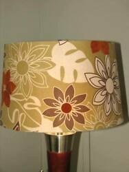 Vintage Mod Floral Fabric Table Lamp Shade 10quot;H x16quot; Top W x 16quot; Bottom W $16.99