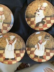 Set of 4 Italian Chefs 2002 Boston Warehouse 6 1 4quot; Plates $13.00