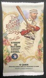 2019 Topps Allen & Ginter A&G Guaranteed RelicAuto Hot Pack - FREE SHIP!