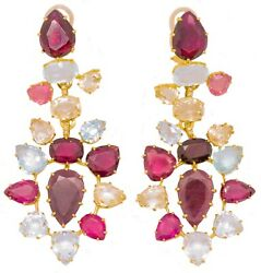 H. STERN 18 KT GOLD HARMONY 67.20 CTW JEWELED EARRINGS BY DIANE VON FURSTENBERG