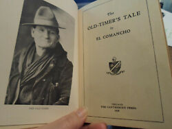 1929 EL COMMANCHO THE OLD TIMER'S TALE ILLUSTRATED INDIANS TRANSPACIFIC RAILROAD