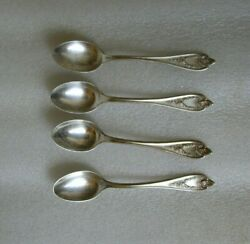 LOT OF 4 ANTIQUE FLATWARE Rogers Old Colony PAT SILVERPLATE Demitasse Spoons!