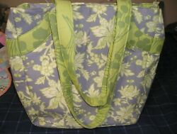 Amy Butler Green & Gray Large Scrapbooking Tote Bag by K & Co