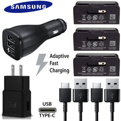 OEM Samsung Galaxy Note 10 9 8 S9 Plus Fast USB Car Wall Charger Plug Cable Cord