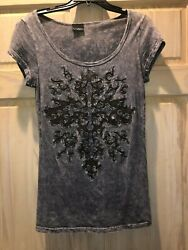 Daytrip Size Small MeshGreyBrown w Cross - FREE SHIPPING