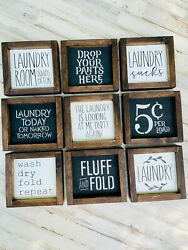 Laundry Room Decor Signs  Wood  Funny Laundry Signs  Gift For Mom  Farmhouse