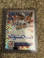 2014 Topps Finest New York Yankees Mariano Rivera Autographes Card #115149