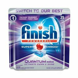 2-Pack Finish Quantum Max Powerball Dishwasher Detergent Tablets 25 Tablets $21.99