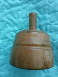 ANTIQUE PRIMITIVE BUTTER MOLD ~ PRESS ~ STAMP WOODEN WELL USED NICE CONDITION