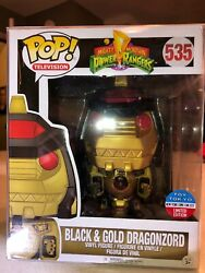 Fastest Delivery! Funko POP! Toy Tokyo Exclusive Black and Gold Dragonzord 535